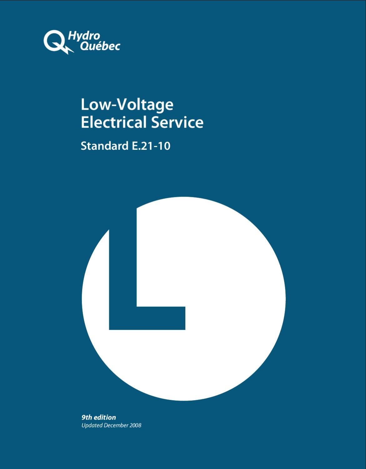 Low Voltage Electrical Service Standard E21 10 By Hydro Qubec Issuu Hp S Fixture Wiring Diagram Single Phase 208