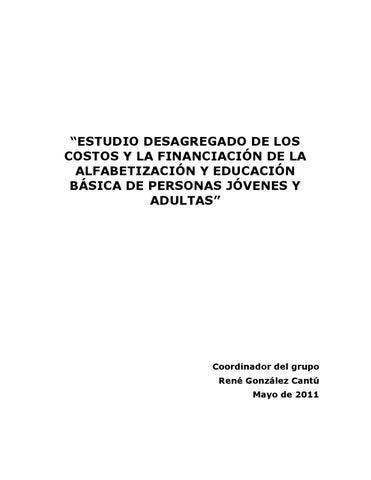 Estudio Desagregado de los costos y financiacion by OEI Paraguay - issuu