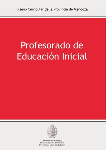 Dise o curricular de formaci n docente inicial del for Diseno curricular de educacion inicial