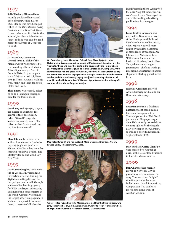 Milton Magazine, Spring 2011 by Milton Academy - issuu