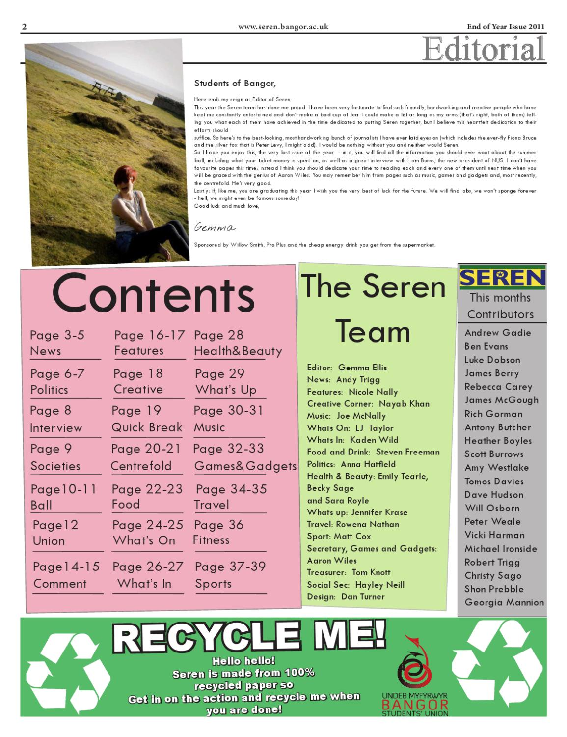 Seren - 218- 2010/11 - End of Year Issue by Seren - issuu