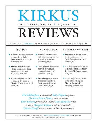 June 1 2011 Volume Lxxix No 11 By Kirkus Reviews Issuu