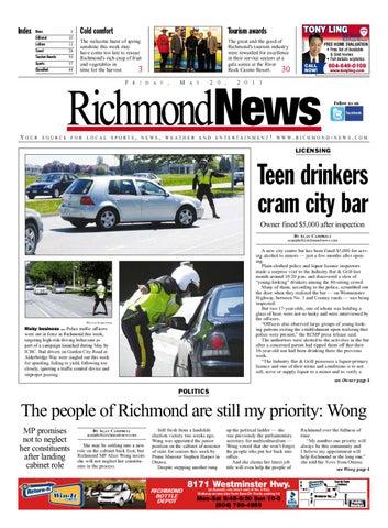 f2e379e1ec76e Richmond News May 20 2011 by Glacier Digital - issuu