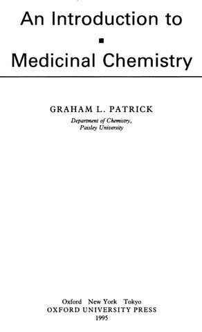 Patrick An Introduction To Medicinal Chemistry By Ciencias Farmaceuticas Issuu