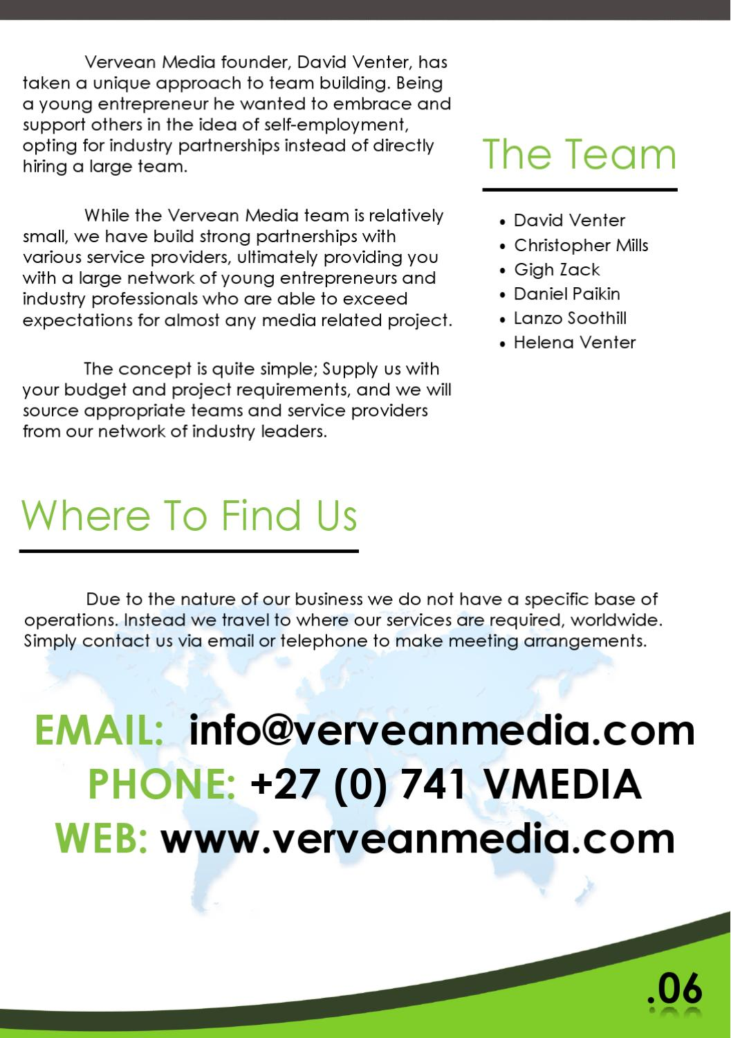 Vervean Media by David Venter - issuu