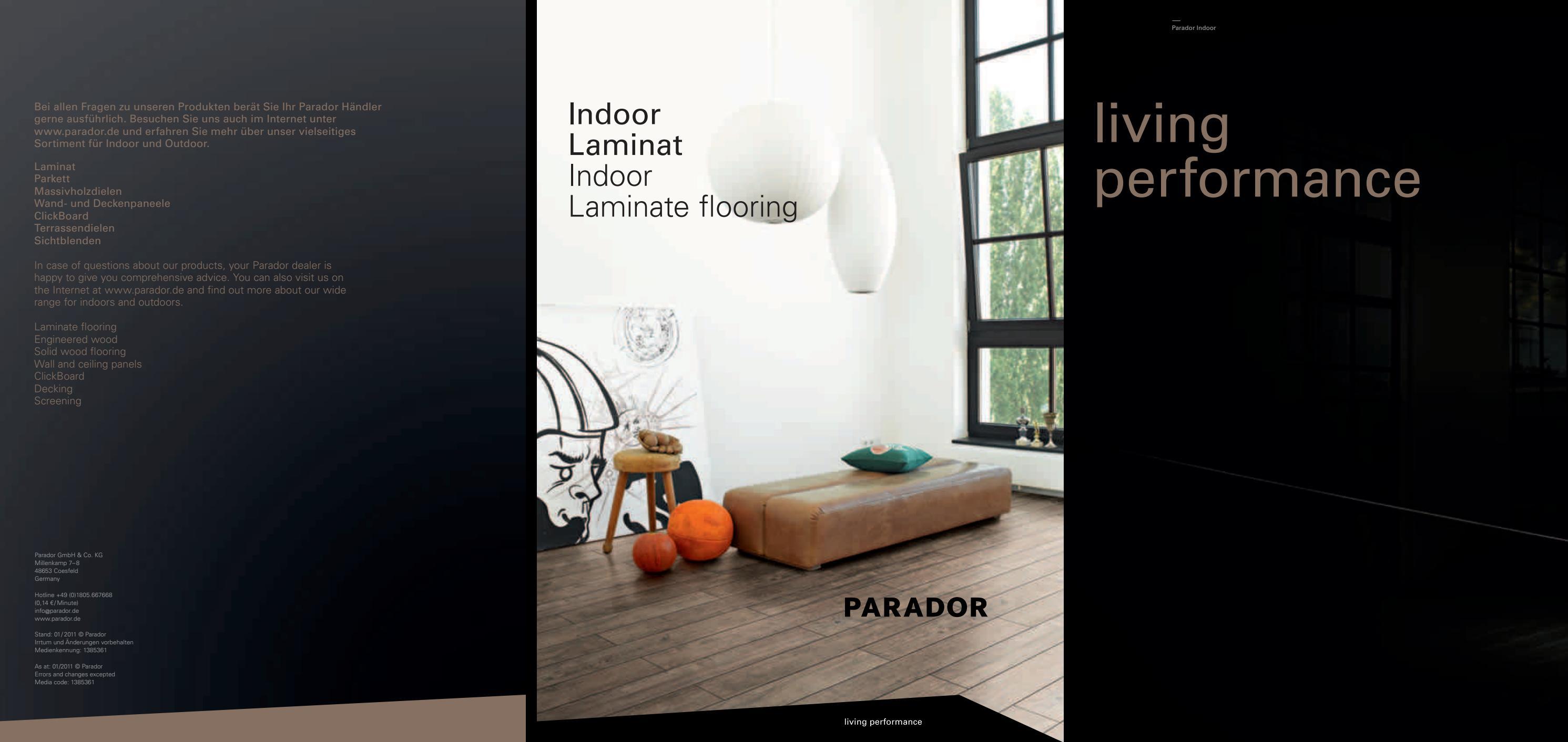 katalog parador laminat 2011 by a s v e pro. Black Bedroom Furniture Sets. Home Design Ideas