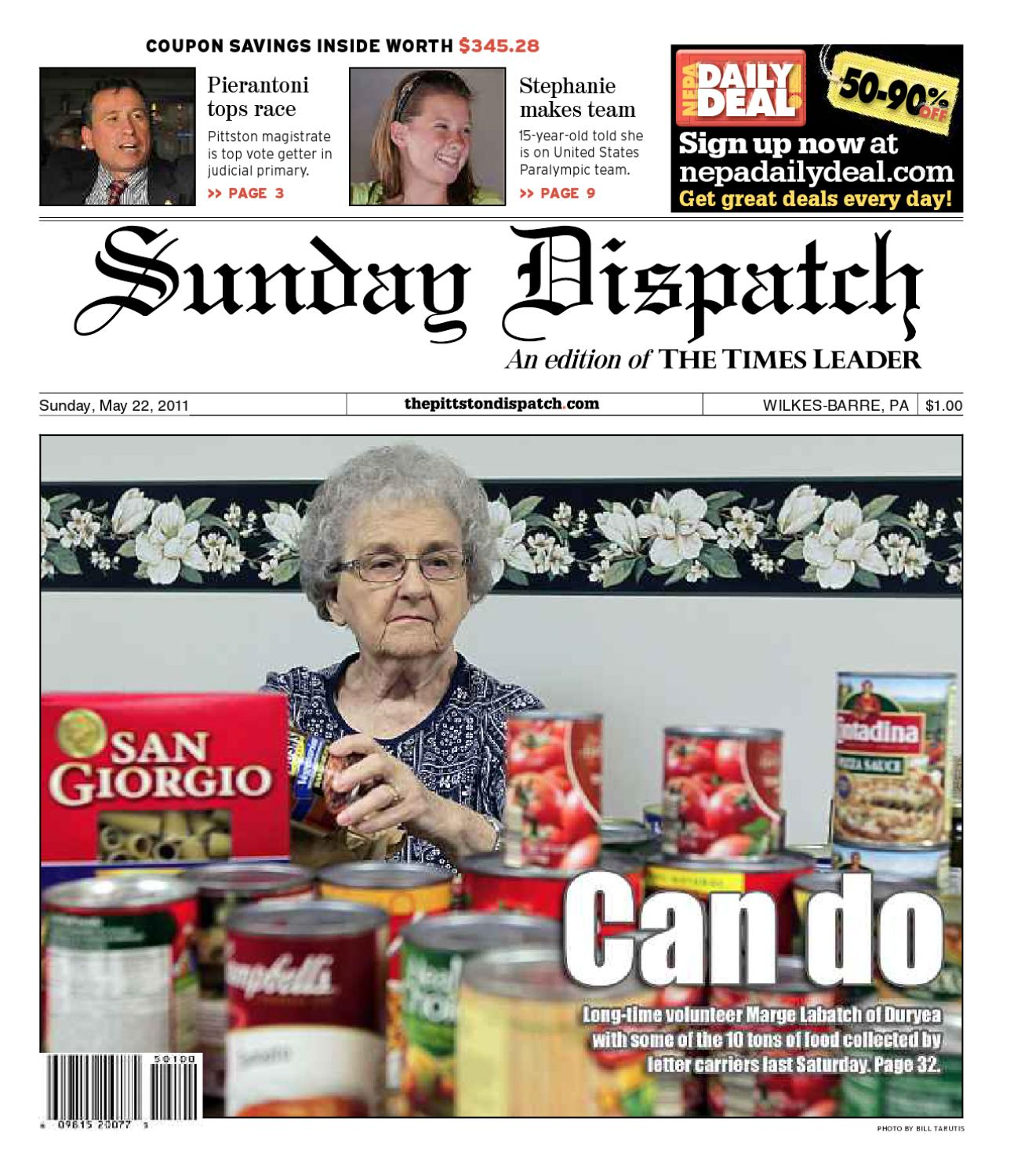 The Pittston Dispatch 05-22-2011 by The Wilkes-Barre Publishing Company -  issuu 49087863e