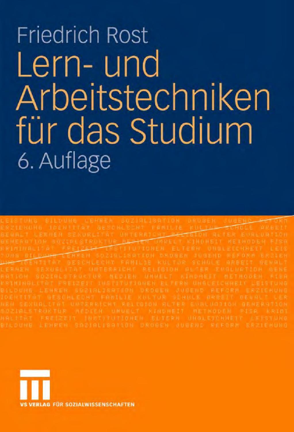 Lern__und_Arbeitstechniken_f__r_das_Studium__6__Auflage by audio ...