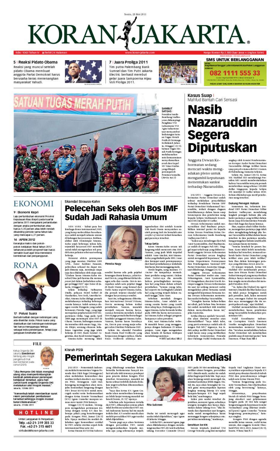 Edisi 1043 23 Mei 2011 By Pt Berita Nusantara Issuu Produk Ukm Bumn Tenun Pagatan Kemeja Pria Biru Kapal