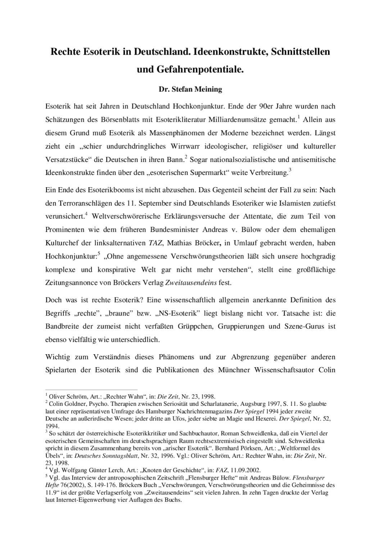Rechte Esoterik in Deutschland. by Ltd. Tourvision - issuu