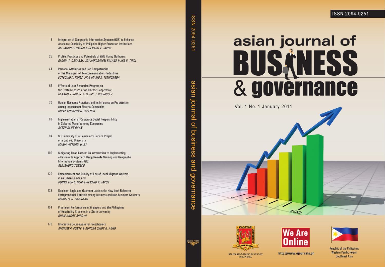 Asian Journal of Business and Governance by Brian Tubongbanua - issuu