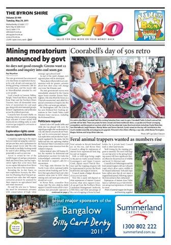 Byron Shire Echo – Issue 25 50 – 24/05/2011 by Echo Publications - issuu