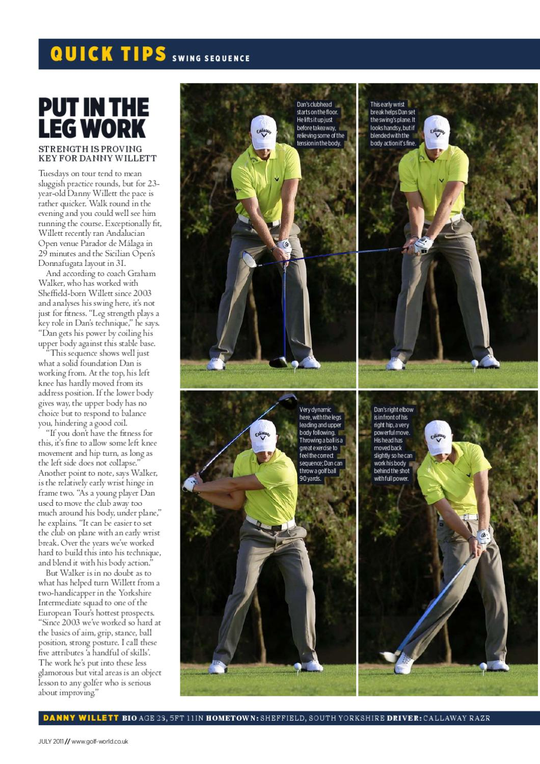 Start Golf Swing With Legs
