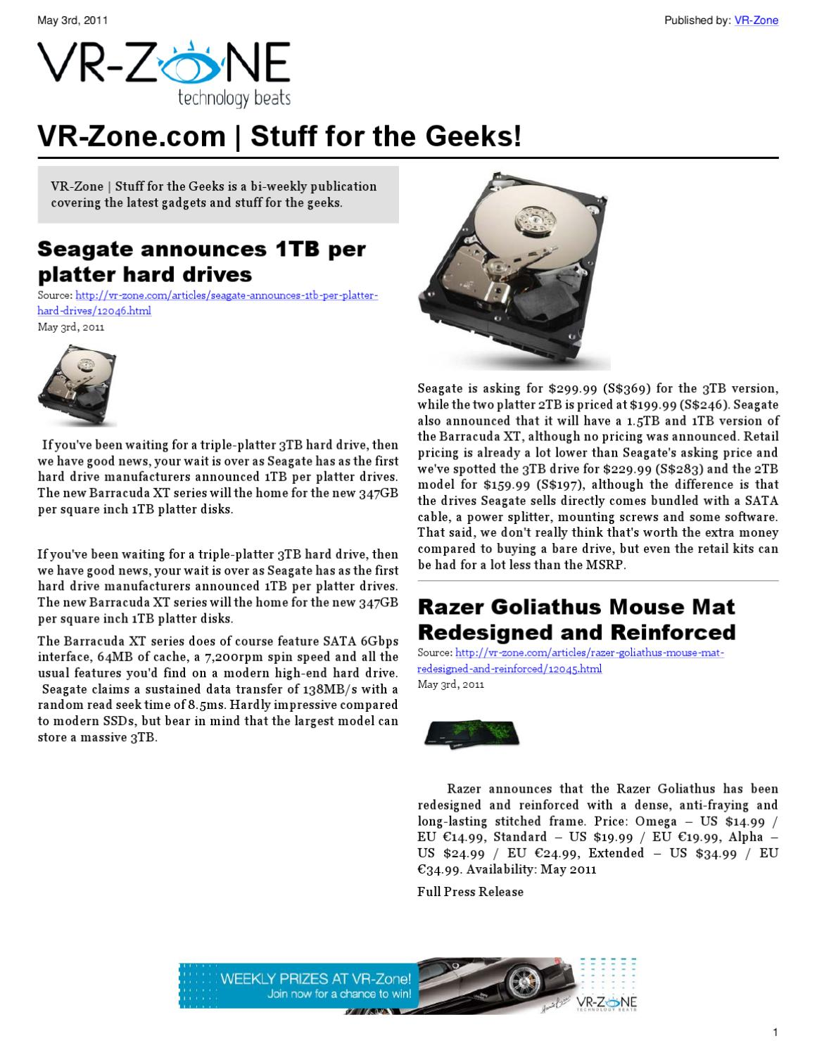 VR-Zone Technology News | Stuff for the Geeks! by VR Media