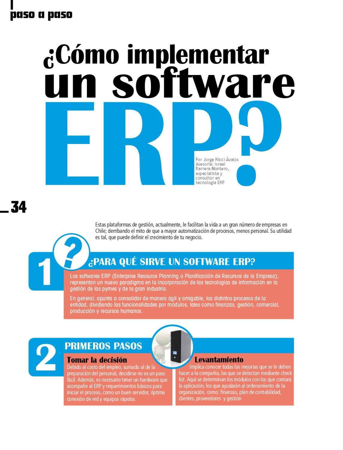 Cómo implementarun software ERP by Jorge Ricci - issuu