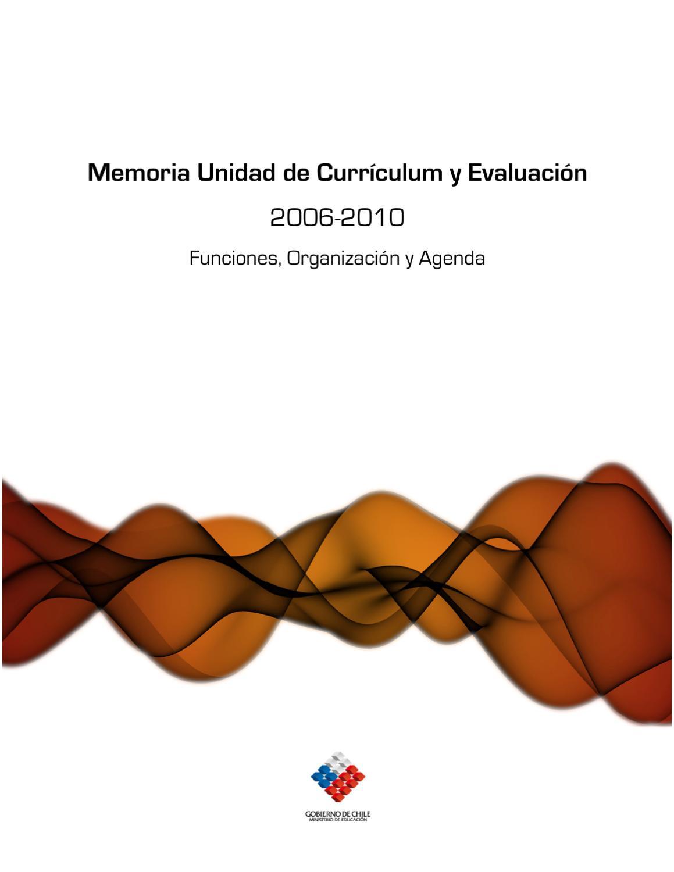 Memoria Unidad de Curriculum - MINEDUC by Kimun Ediciones - issuu
