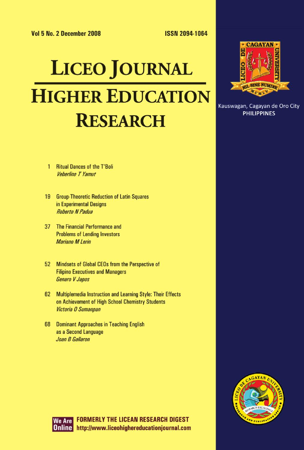 research in higher education journal Research in higher education (rihe) publishes studies that examine issues  pertaining to postsecondary education the journal is open to studies using a  wide.