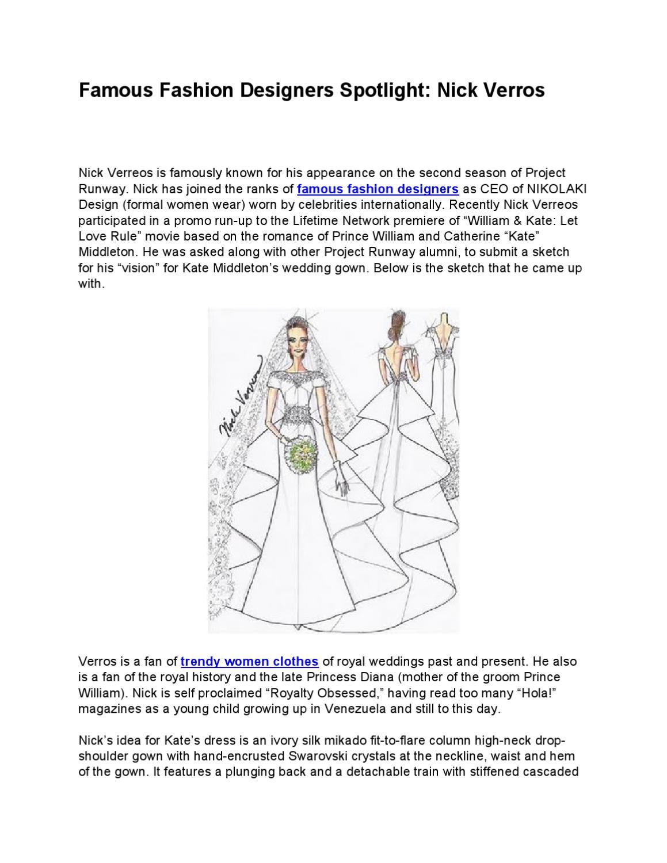Famous Fashion Designers Spotlight Nick Verros By Fashion Tips Issuu