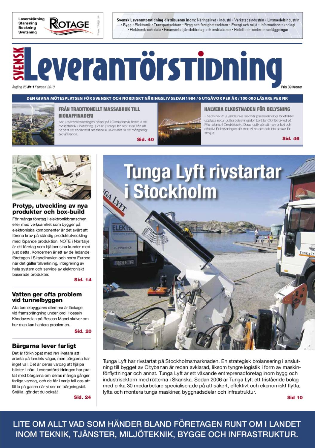 Svensk Leverantörstidning nr-1 2010 by Hexanova Media Group AB - issuu 8d8e29cdb0d61