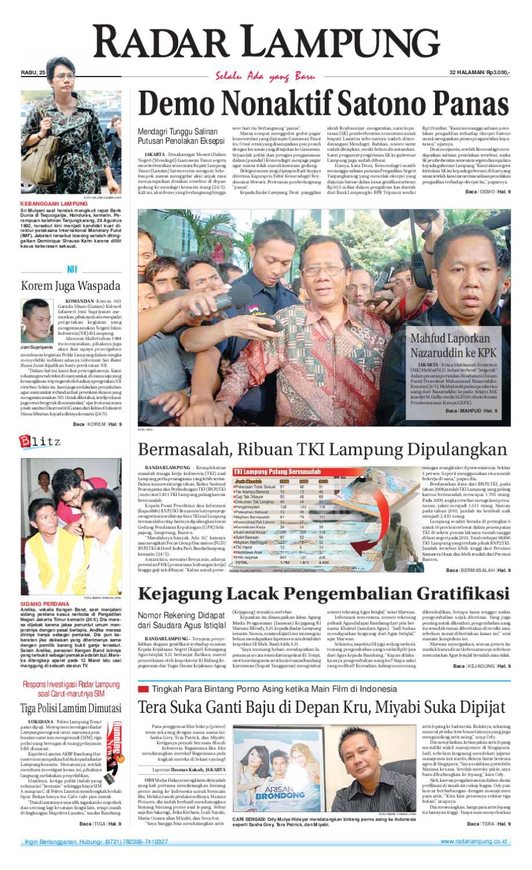 Radar Lampung Rabu 25 Mei 2011 By Ayep Kancee Issuu Produk Ukm Bumn Madu Super Az Zikra