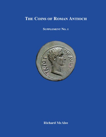 Coins of Roman Antioch Supplement 1 by Classical Numismatic Group