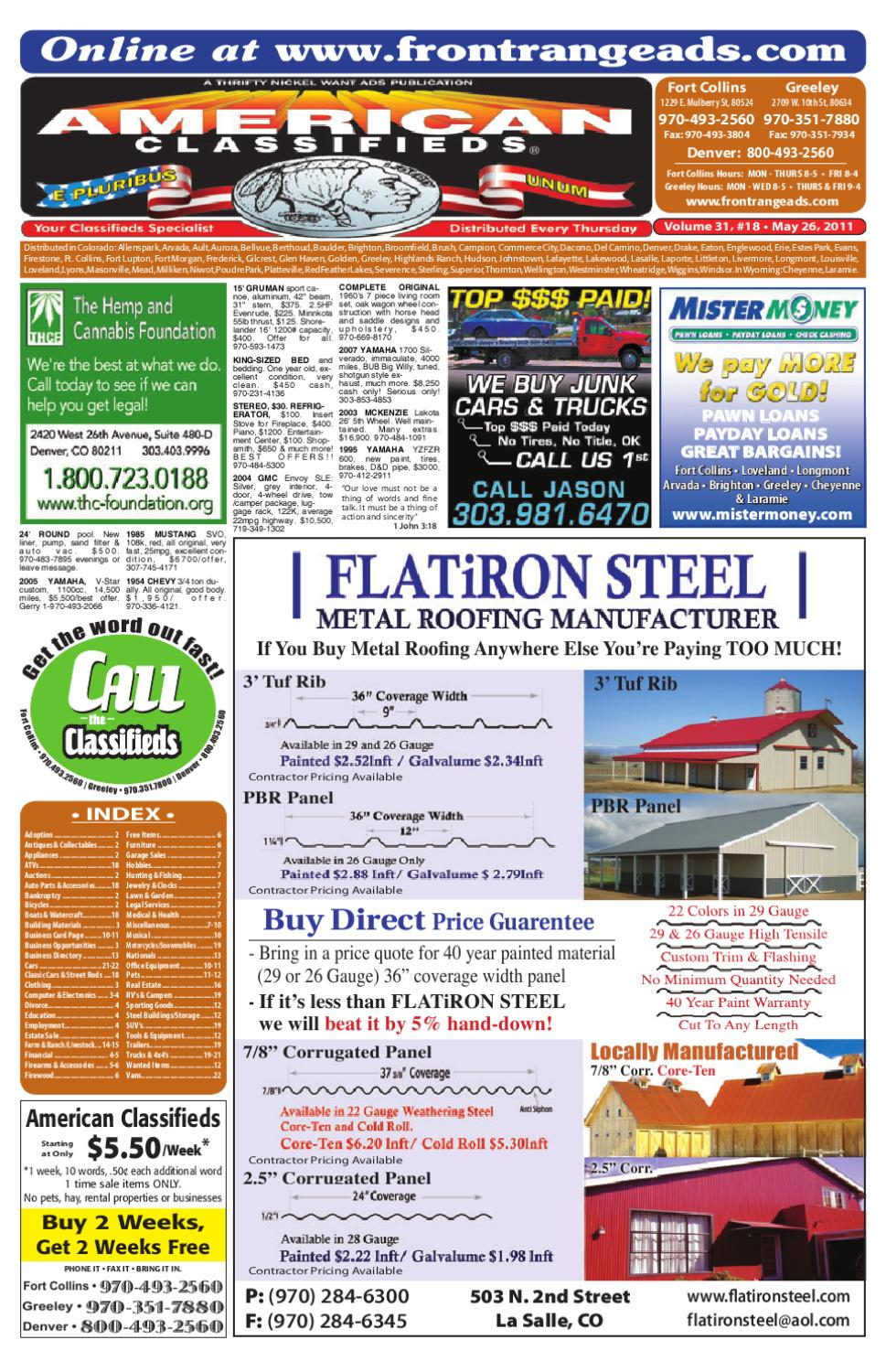 FR American Classifieds 5-26-11 by Thrifty Nickel of