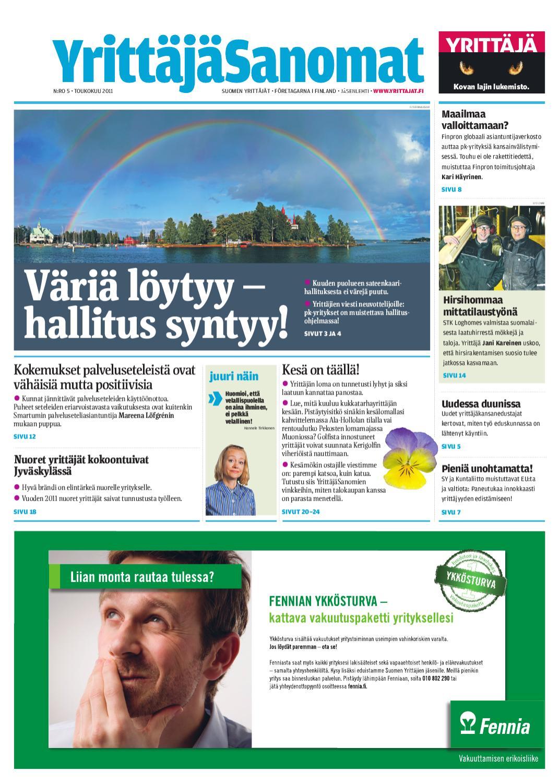 Suomen YrittäjäSanomat 5 2011 by Suomen Yrittäjät - issuu 0a0b1deabe