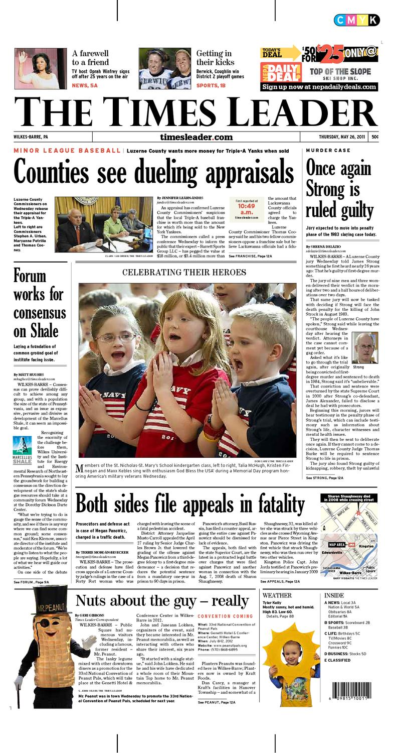 Times Leader 05-26-2011 by The Wilkes-Barre Publishing Company - issuu 882e1ee5af3a