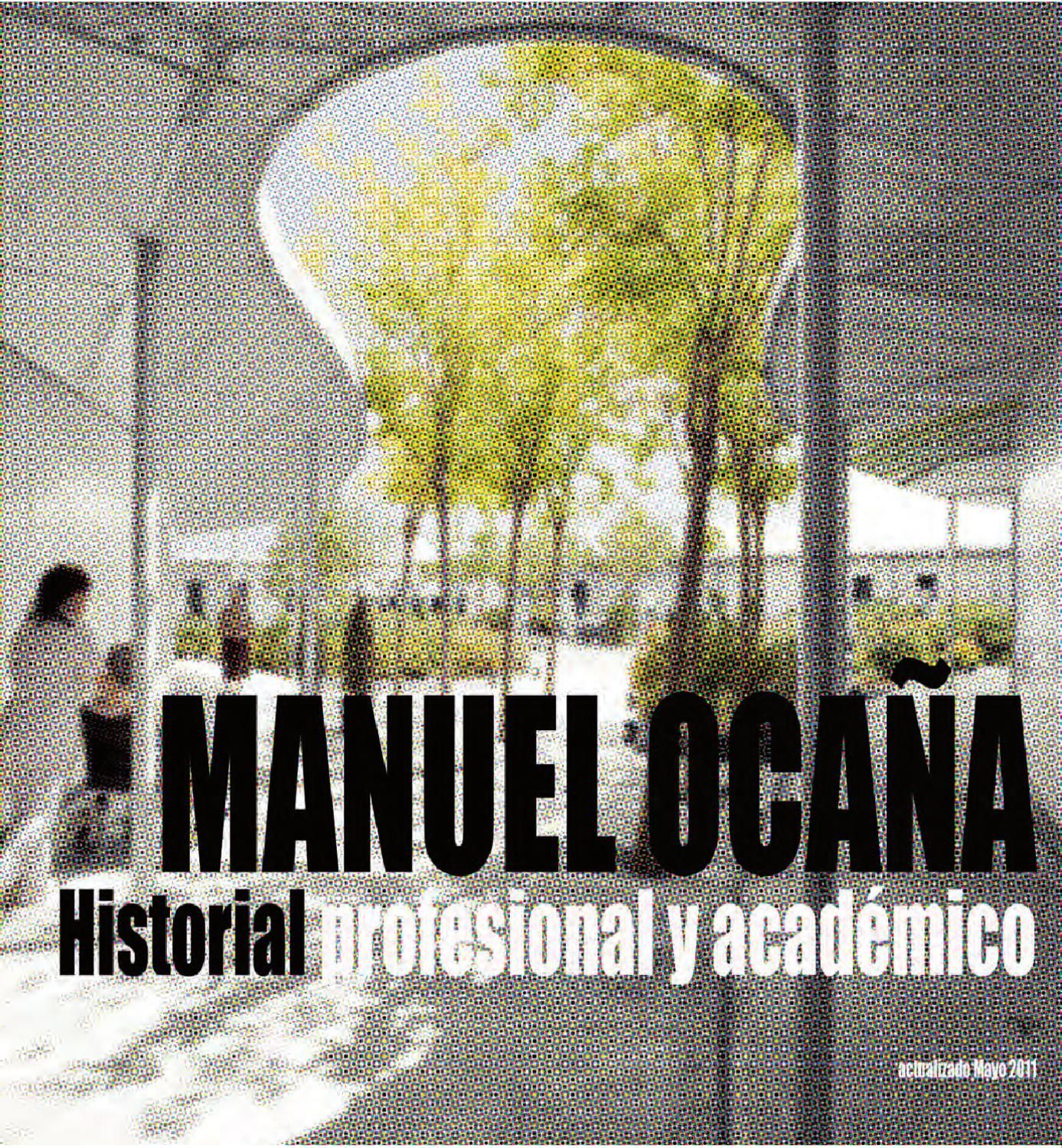 Manuel Oca A Academic And Professional Profile By Manuel Oca A  # Muebles Pozo Ocana