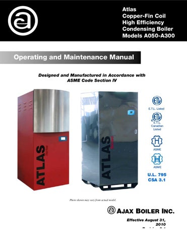 atlas o m manual sola rev 2 by ajax boiler inc issuu rh issuu com ajax boiler installation manual Gas Water Boiler Wiring