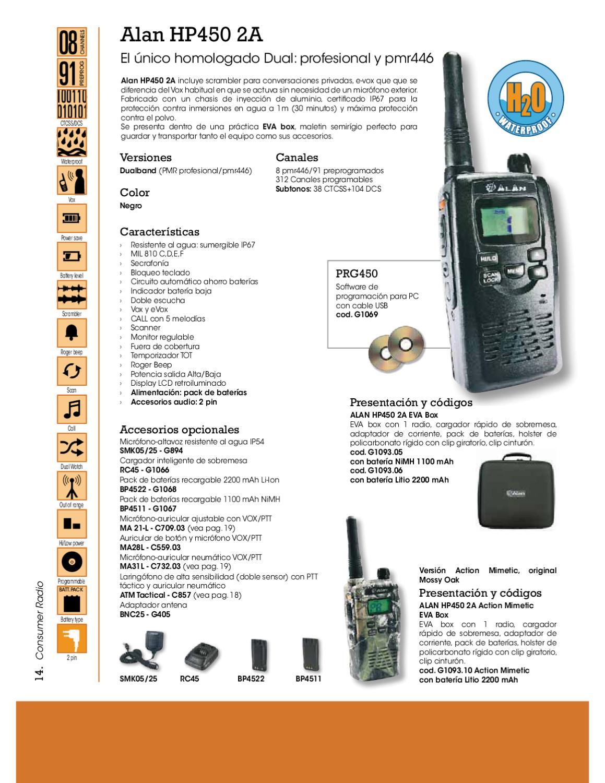 Midland BA22/Altavoz de micr/ófono con PTT de bot/ón