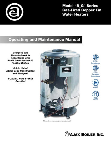 b g series by ajax boiler inc issuu rh issuu com ajax boiler installation manual Gas Boiler Wiring