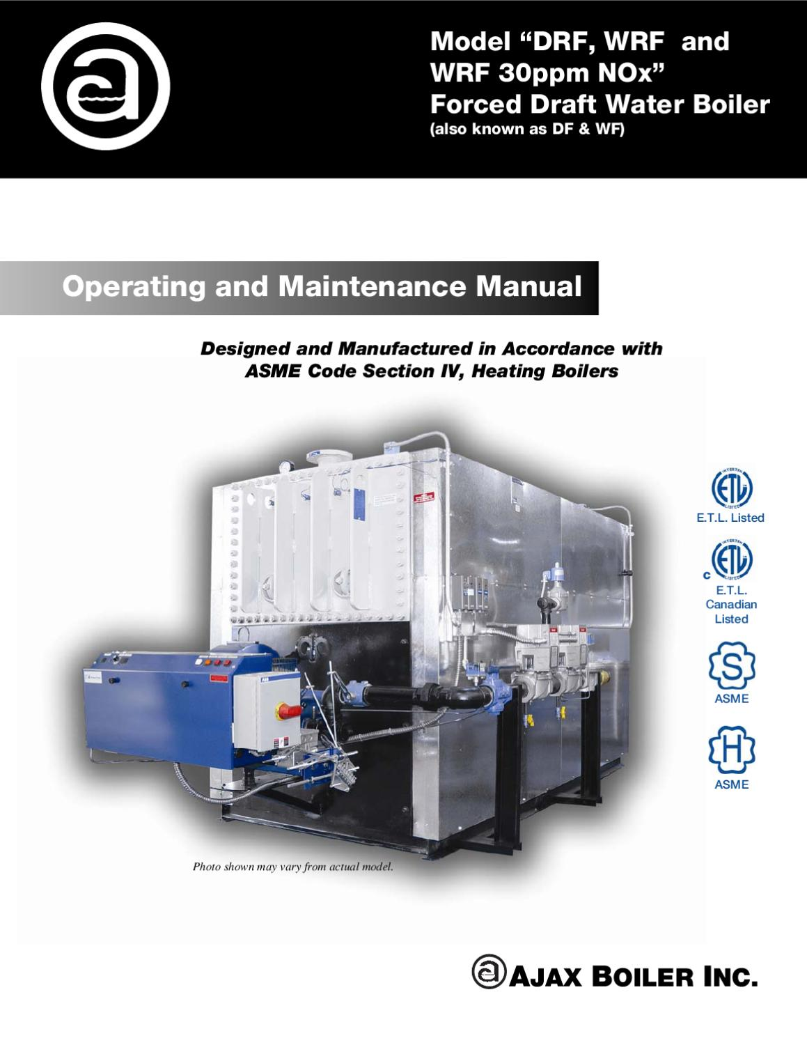 O&M Forced Draft, Water, Hi Temp and Low NOx by Ajax Boiler Inc. - issuu .
