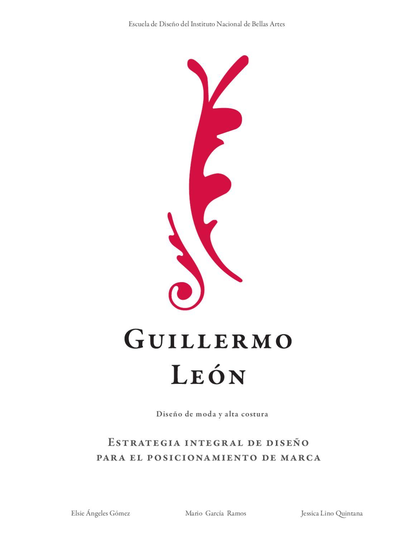 Guillermo León: Diseño de moda y Alta Costura by Jessica Lino - issuu