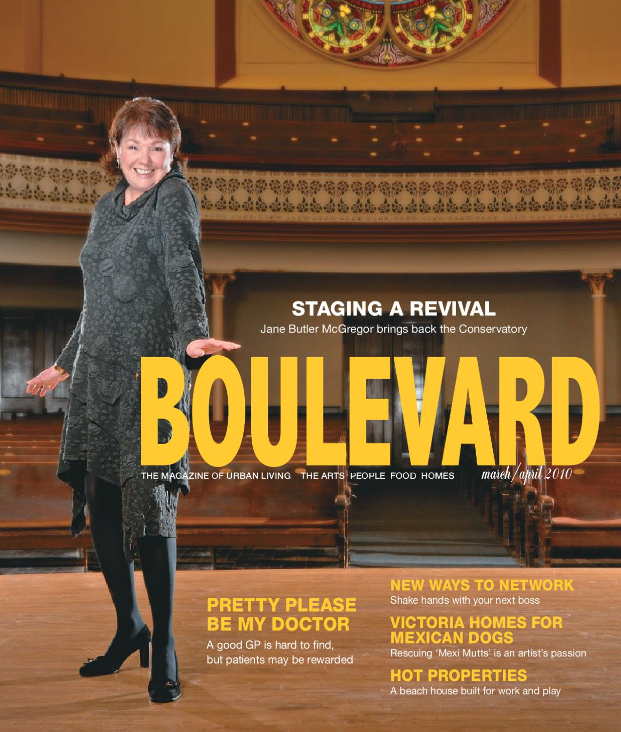 Boulevard Magazine March April 2010 Issue By Issuu