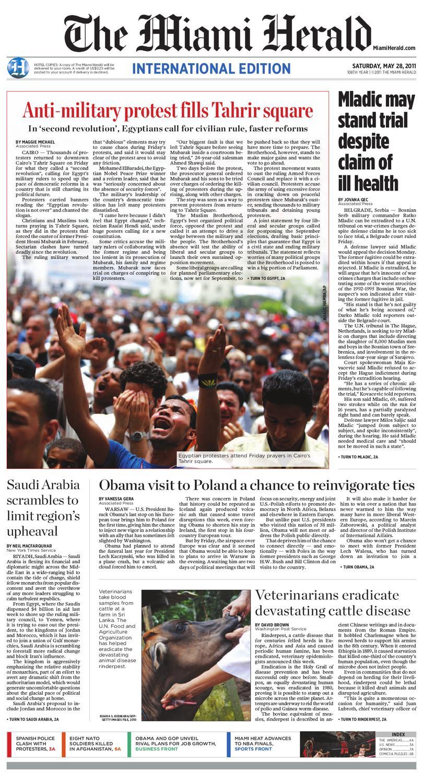 Portada Jueves 13 de Diciembre-Miami Herald (EEUU)   ALnavío