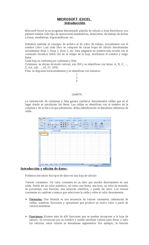 Teoria de excel Muy Básico by gabriel maximiliano - issuu