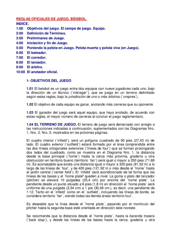 Reglamento de Beísbol. by josjulio - issuu
