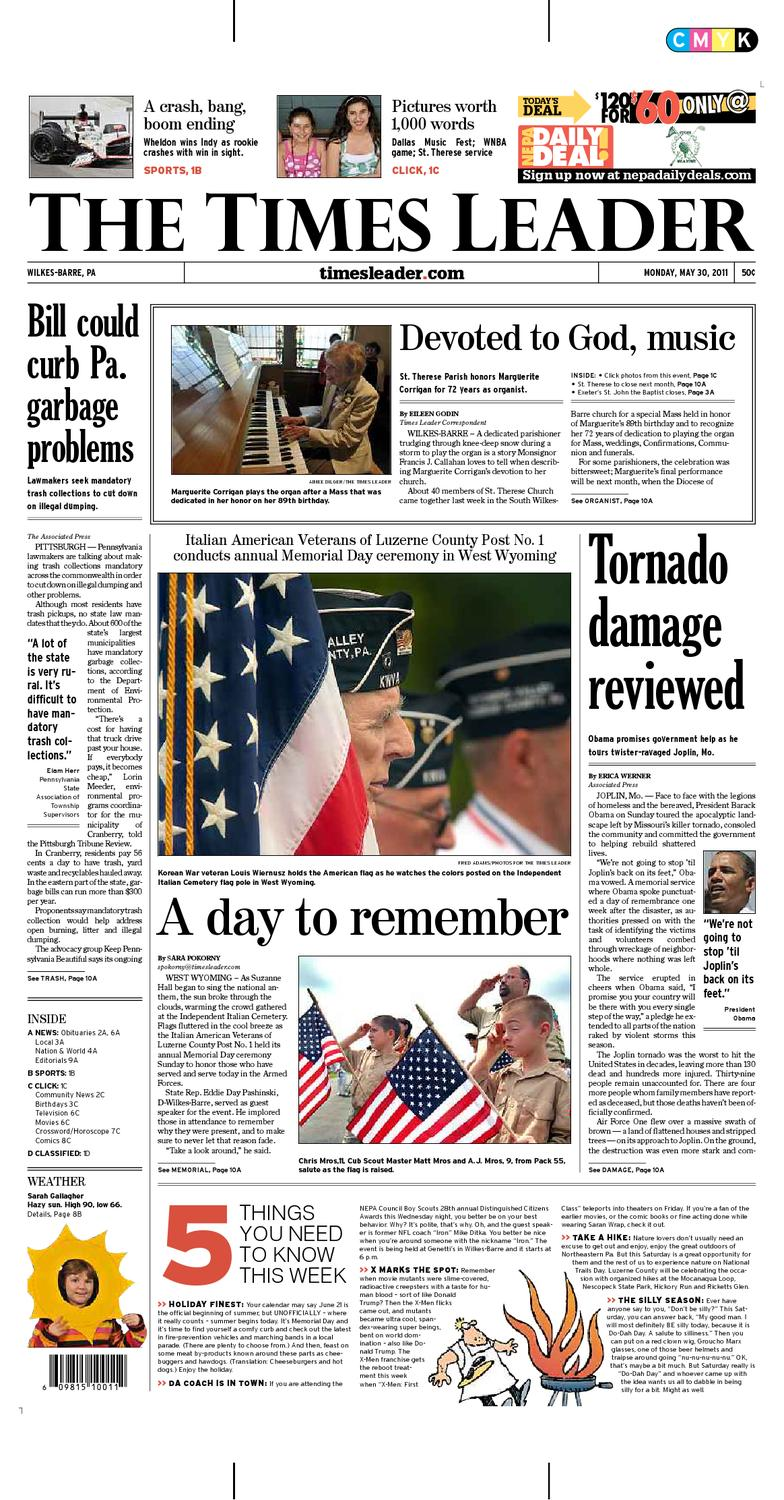 Times Leader 05-30-2011 by The Wilkes-Barre Publishing Company - issuu 594282805