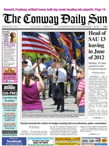 c0f41f23b83 The Conway Daily Sun, Tuesday, May 31, 2011 by Daily Sun - issuu