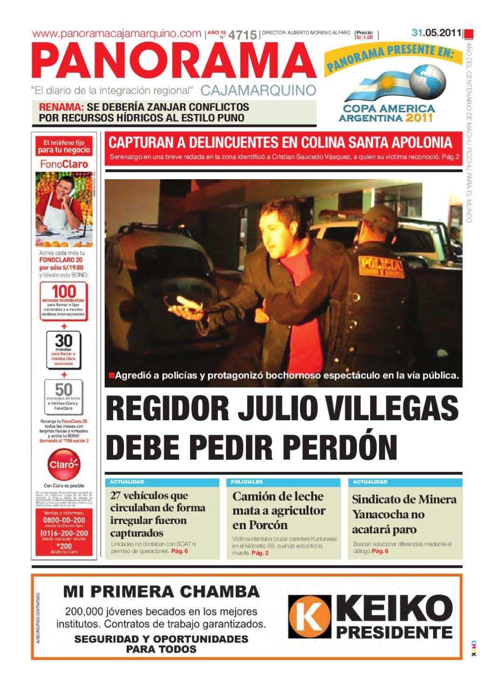 diario-31-05-2011 by Panorama Cajamarquino - issuu