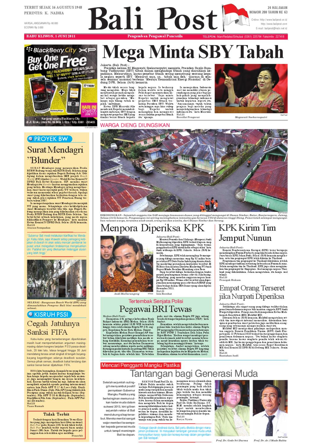 Edisi 30 Juni 2011 Balipostcom By E Paper Kmb Issuu Rejeki Anak Soleh 3 Agip 4t Super 1l 1