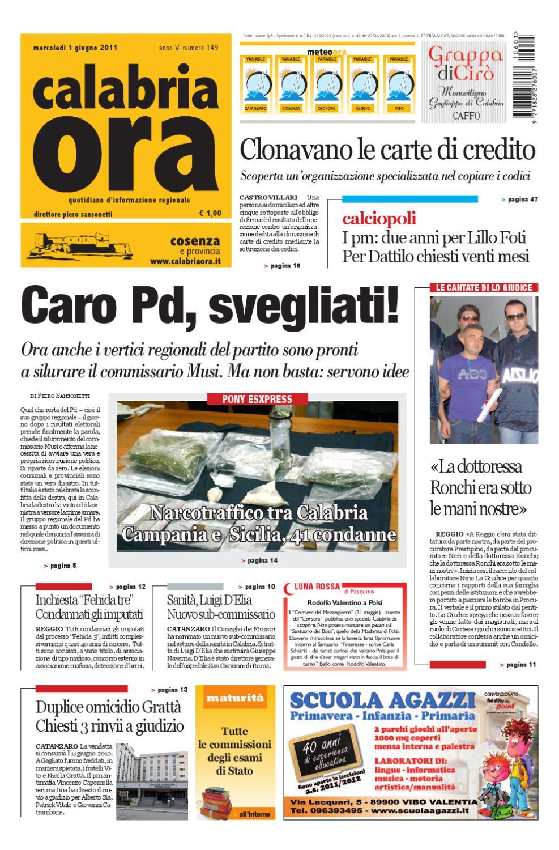 01 06 2011cs By Redazione Calabriaora Redazione Issuu