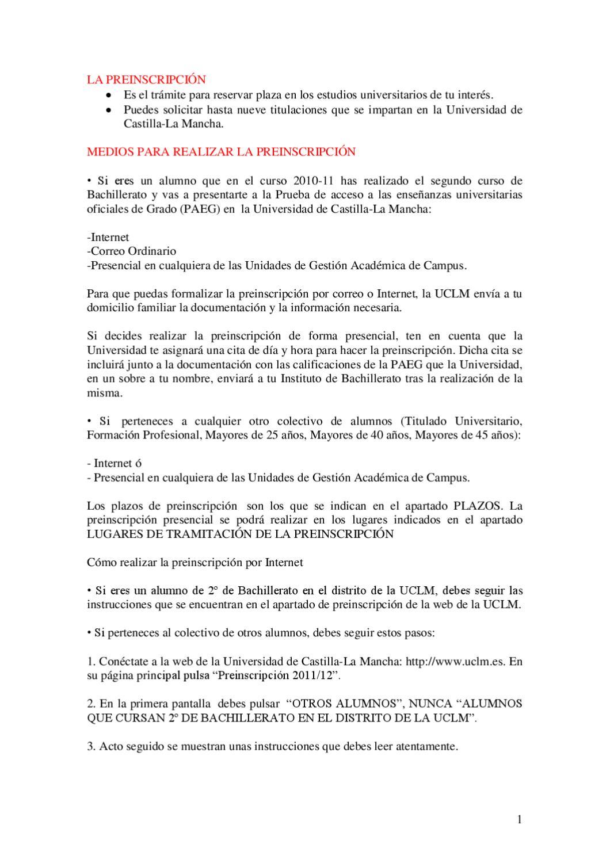 Preinscripcion Alumnos En Uclm By Ies Al Basit Issuu