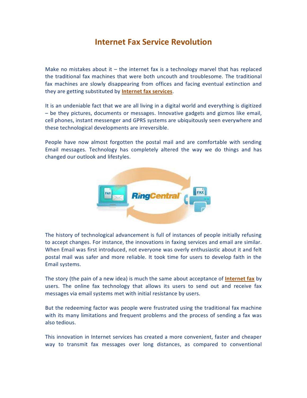 Internet Fax Service Revolution by James Allen - issuu