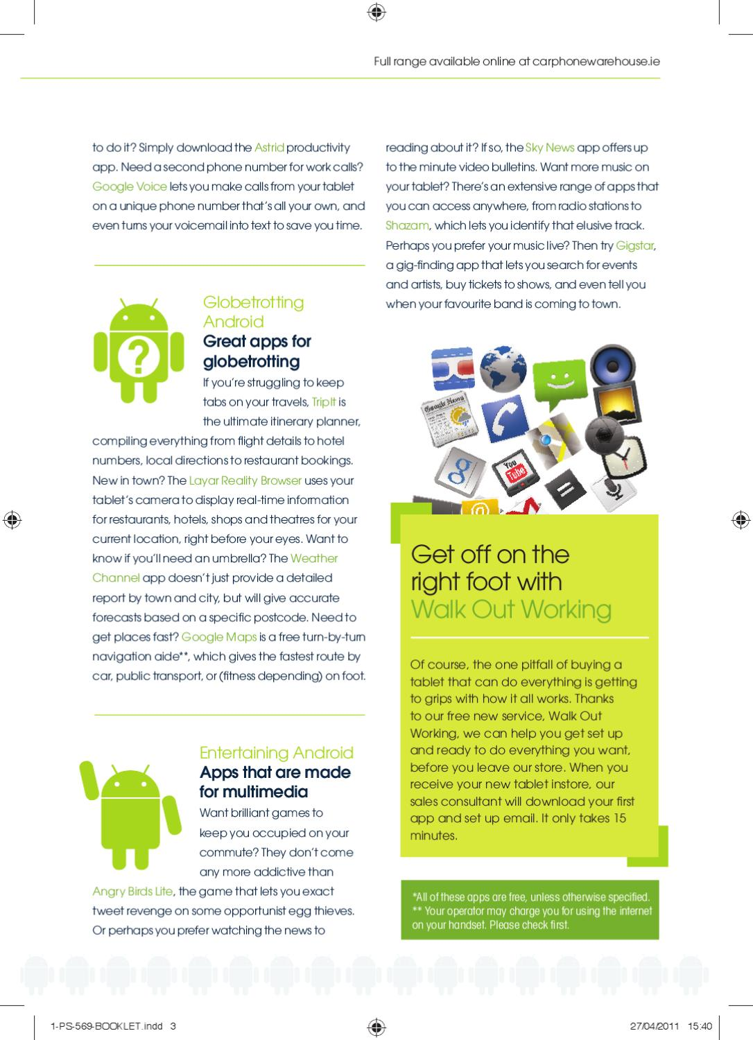The Carphone Warehouse Tablet Guide - Summer 2011