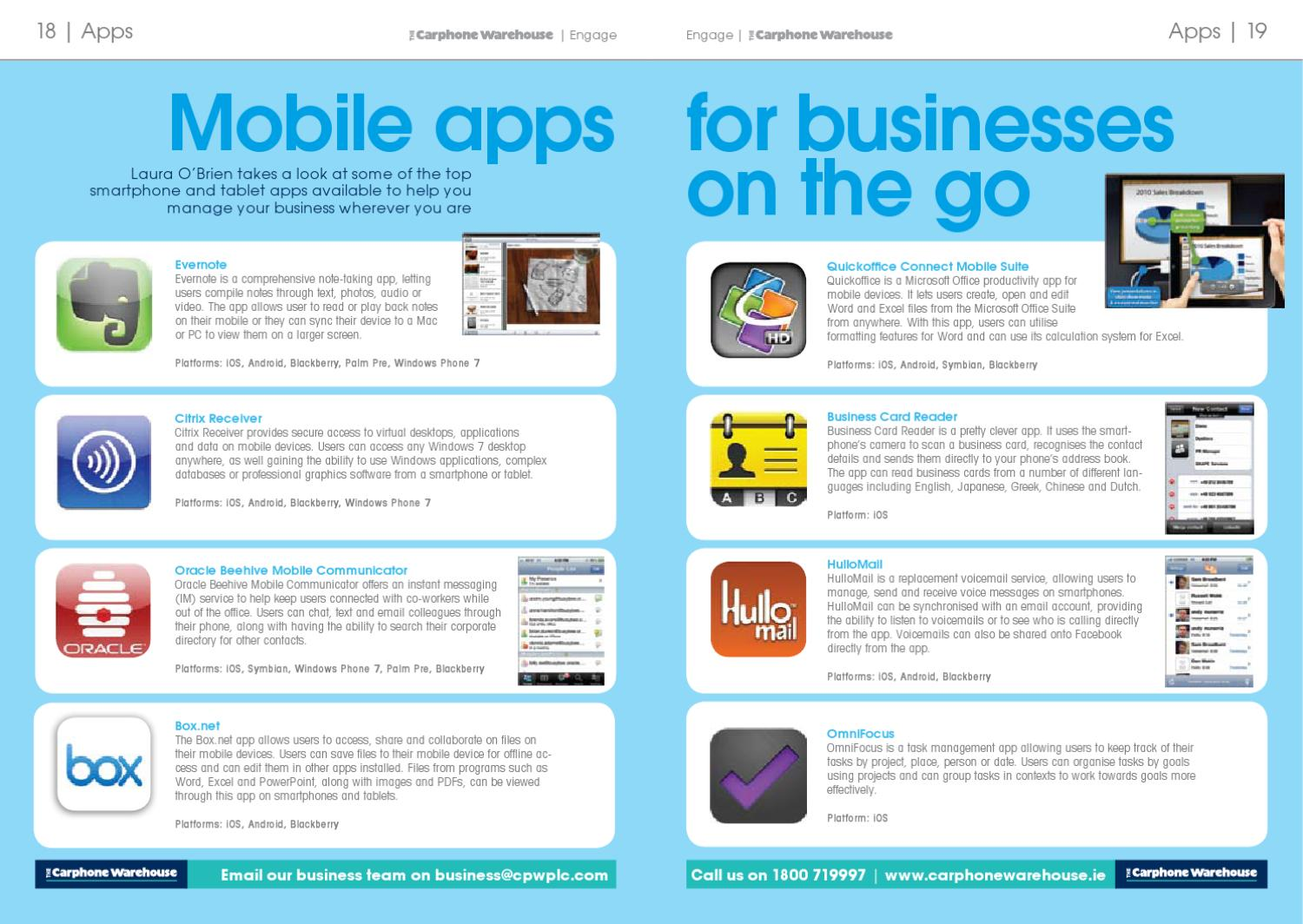 The carphone warehouse engage business guide june 2011 by the the carphone warehouse engage business guide june 2011 by the carphone warehouse issuu reheart Image collections