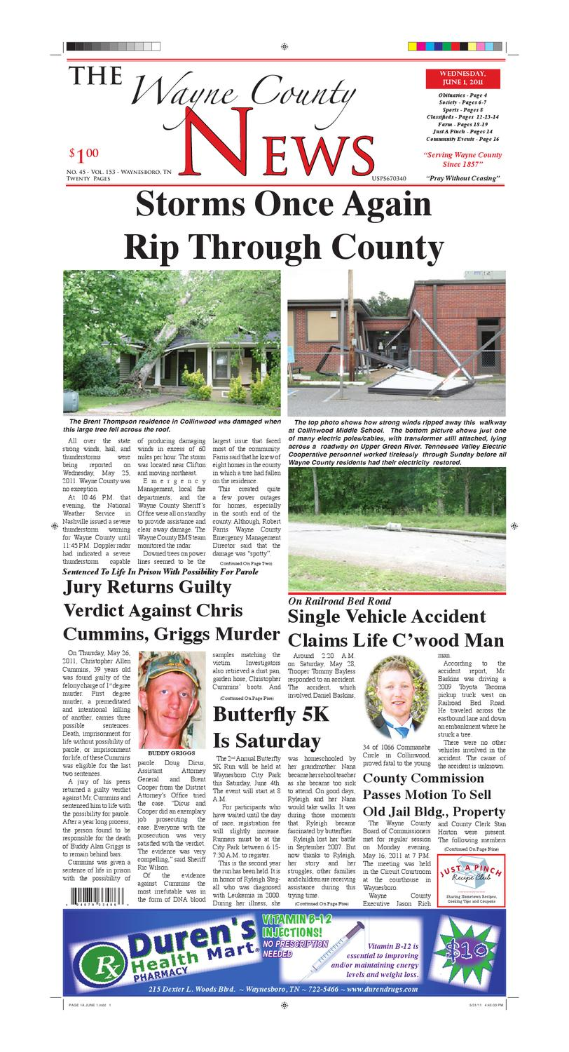 Wayne County News 06-01-11 by Chester County Independent - issuu