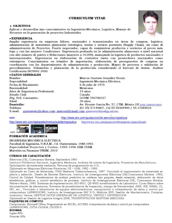 Curriculum Vitae 2011 By Logistica E Ingenieria De Mexico Issuu