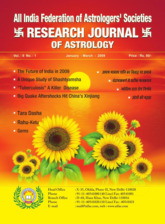 Research Journal jan-march-2009 by Future Samachar - issuu